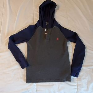 Long sleeve hooded shirt, boys, Ralph Lauren sz8